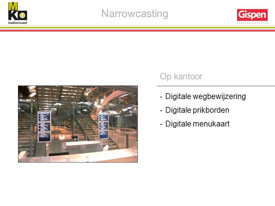 Narrowcasting Op kantoor - Digitale wegbewijzering