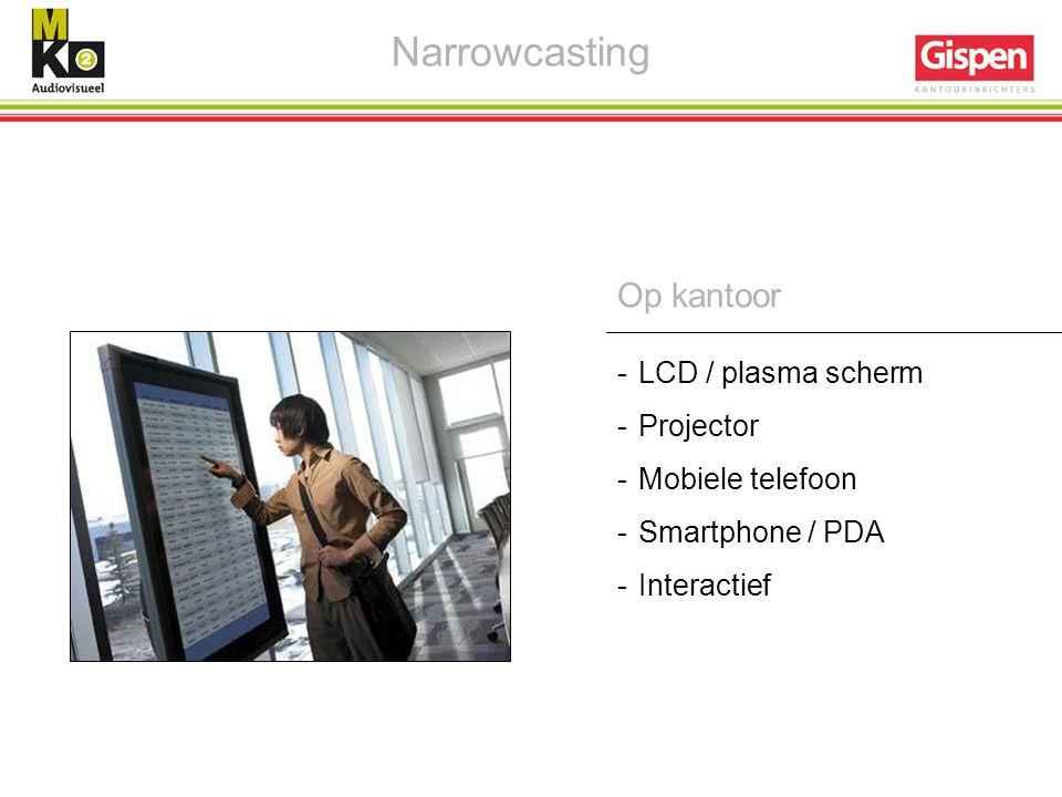 Narrowcasting Op kantoor - LCD / plasma scherm Projector