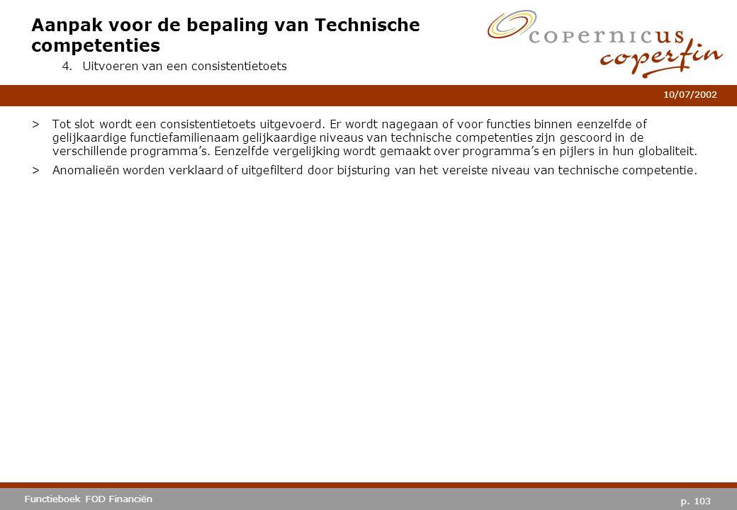 Aanpak voor de bepaling van Technische competenties