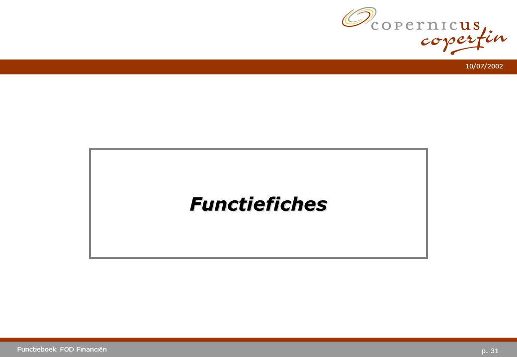 Functiefiches