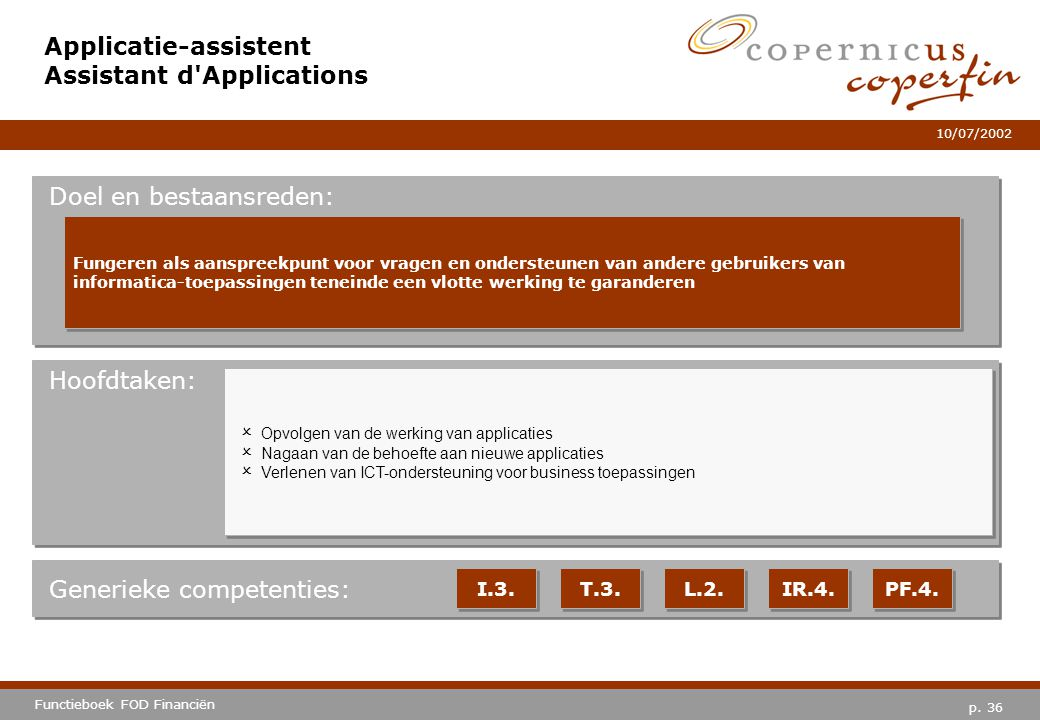 Applicatie-assistent Assistant d Applications
