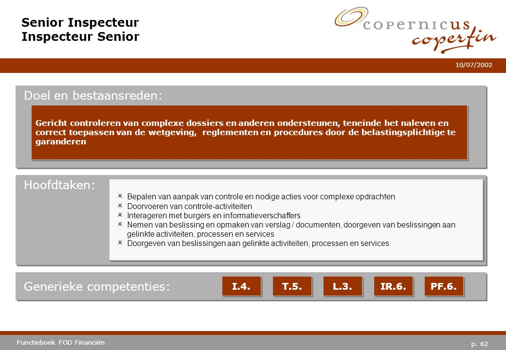 Senior Inspecteur Inspecteur Senior