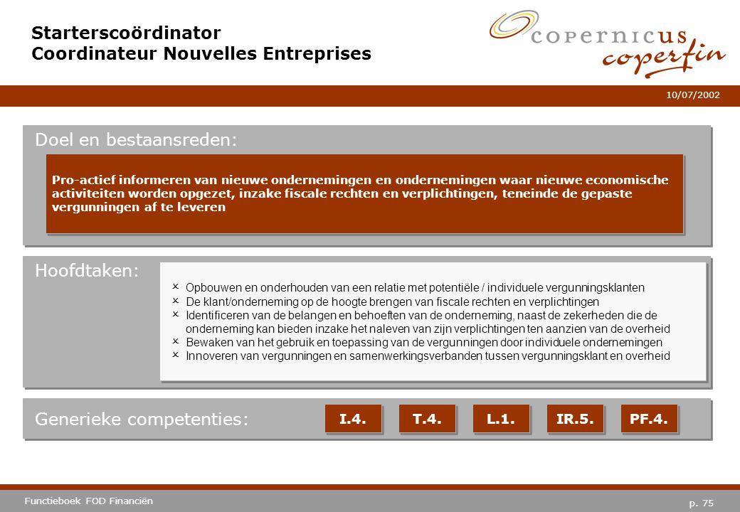 Starterscoördinator Coordinateur Nouvelles Entreprises