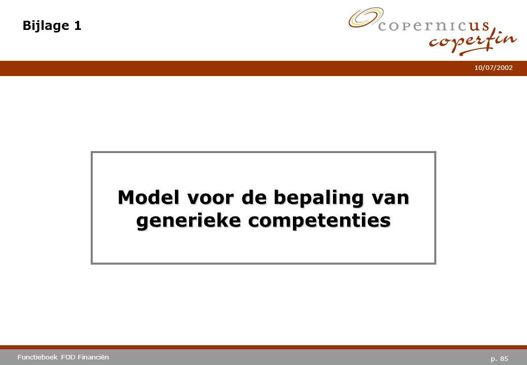 Model voor de bepaling van generieke competenties