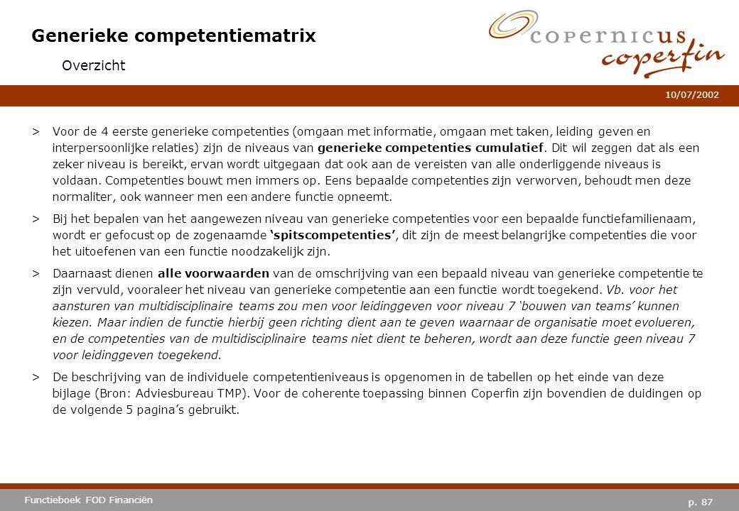 Generieke competentiematrix