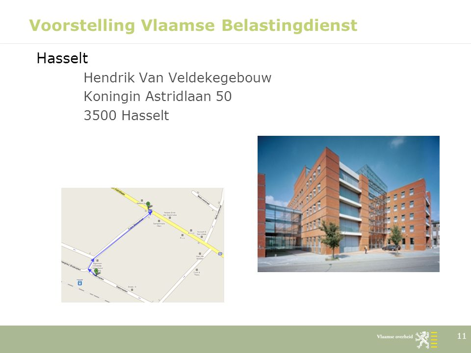 Voorstelling Vlaamse Belastingdienst