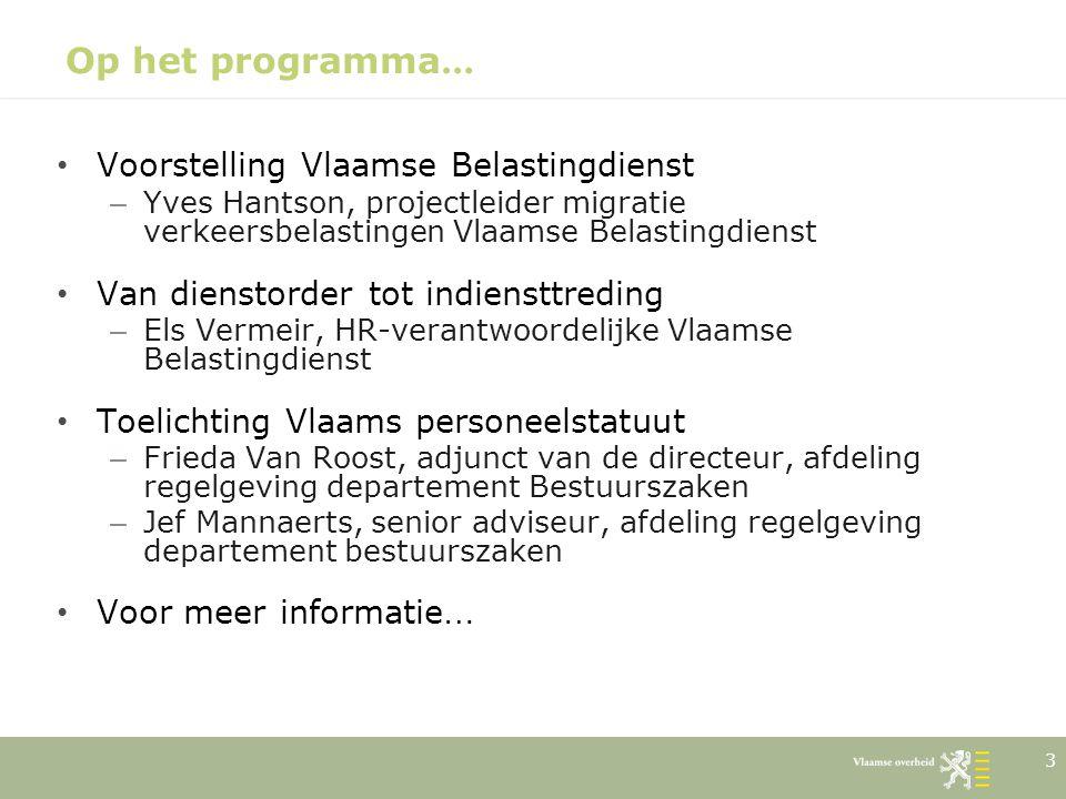 Op het programma… Voorstelling Vlaamse Belastingdienst