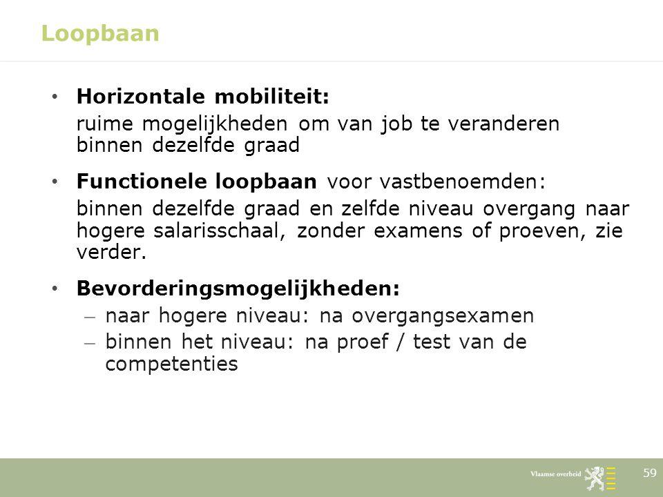 Loopbaan Horizontale mobiliteit: