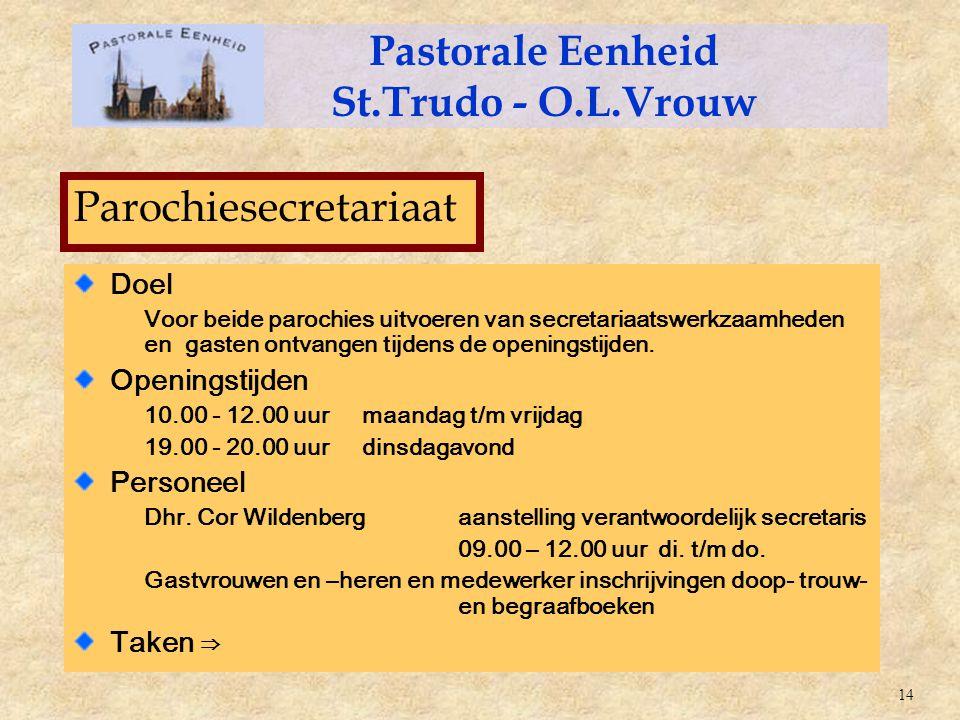 Pastorale Eenheid St.Trudo - O.L.Vrouw
