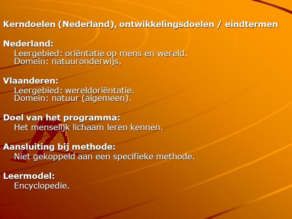 Kerndoelen (Nederland), ontwikkelingsdoelen / eindtermen
