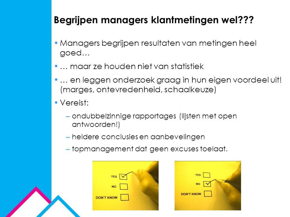 Begrijpen managers klantmetingen wel