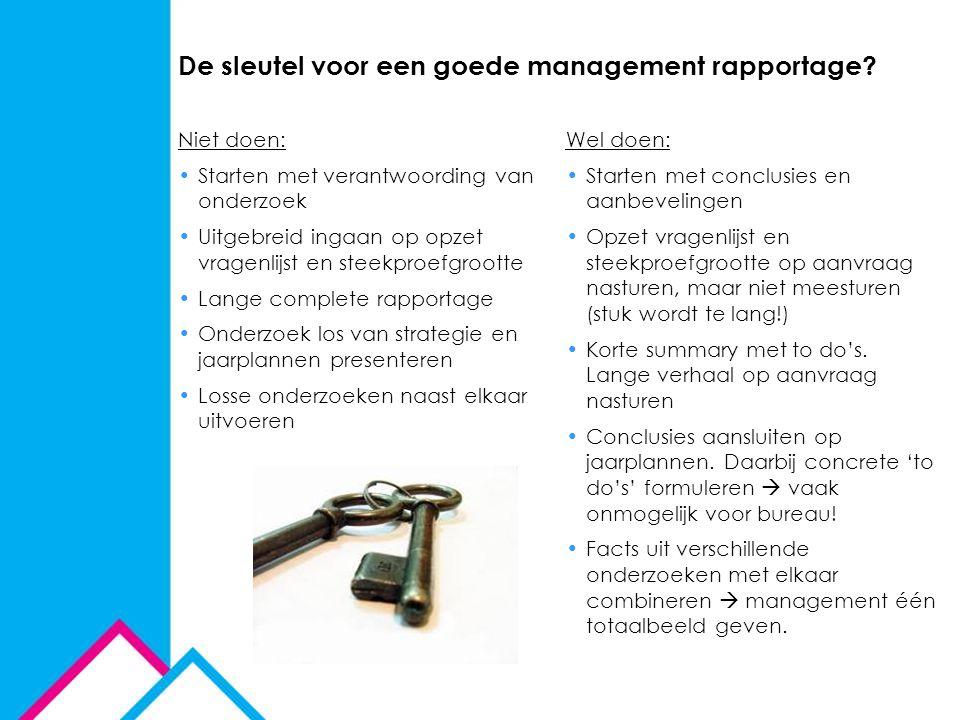 De sleutel voor een goede management rapportage