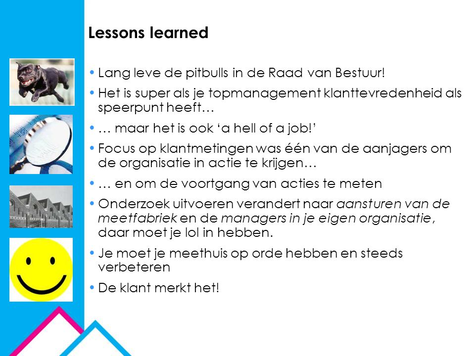 Lessons learned Lang leve de pitbulls in de Raad van Bestuur!