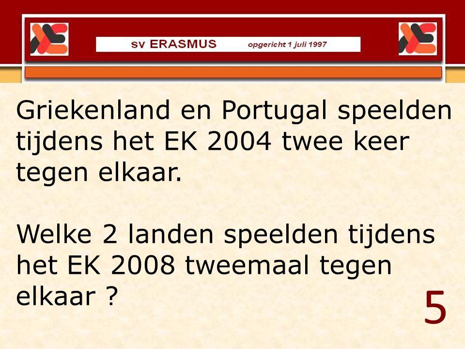 Griekenland en Portugal speelden tijdens het EK 2004 twee keer tegen elkaar.