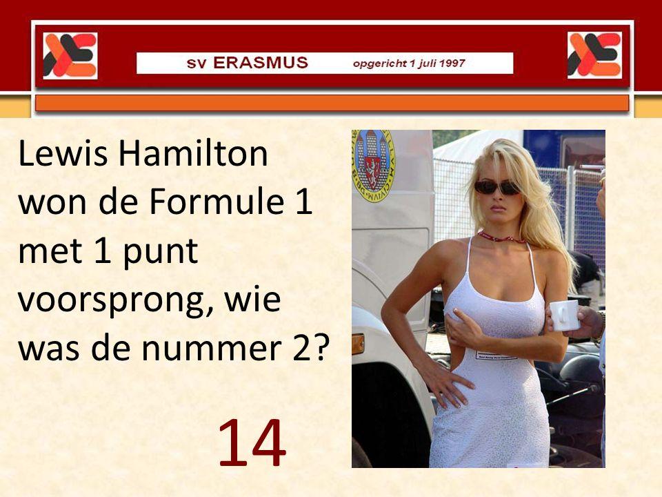 Lewis Hamilton won de Formule 1 met 1 punt voorsprong, wie was de nummer 2