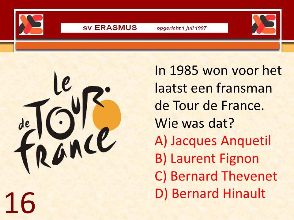 In 1985 won voor het laatst een fransman de Tour de France. Wie was dat