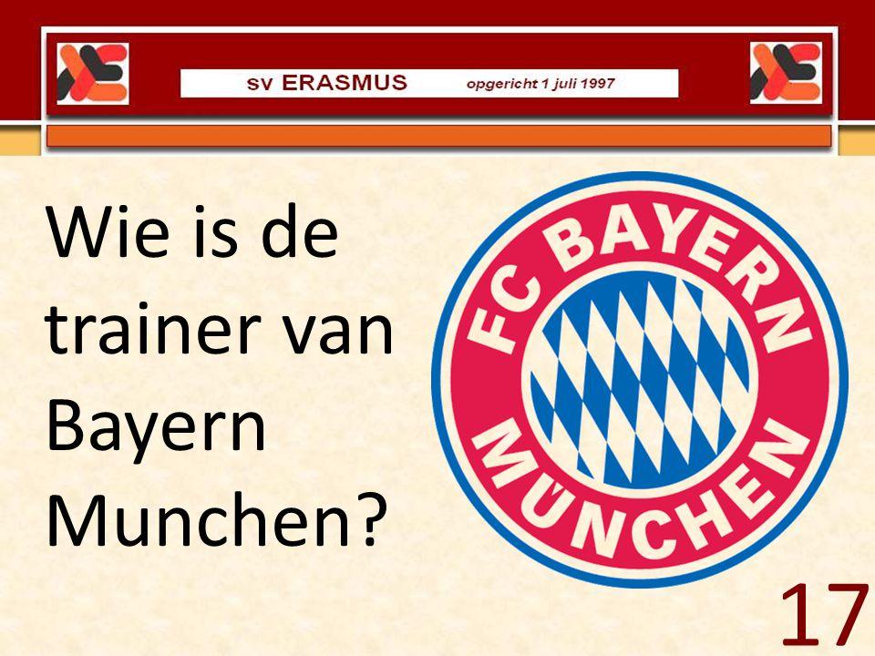 Wie is de trainer van Bayern Munchen