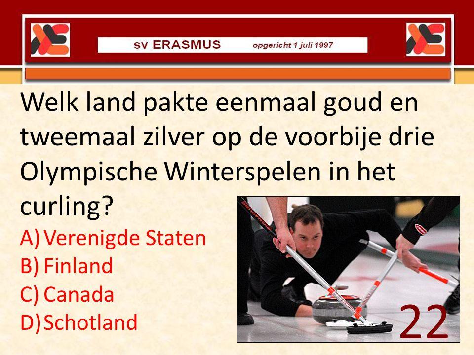 Welk land pakte eenmaal goud en tweemaal zilver op de voorbije drie Olympische Winterspelen in het curling
