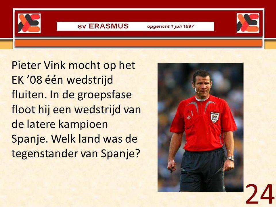 Pieter Vink mocht op het EK '08 één wedstrijd fluiten