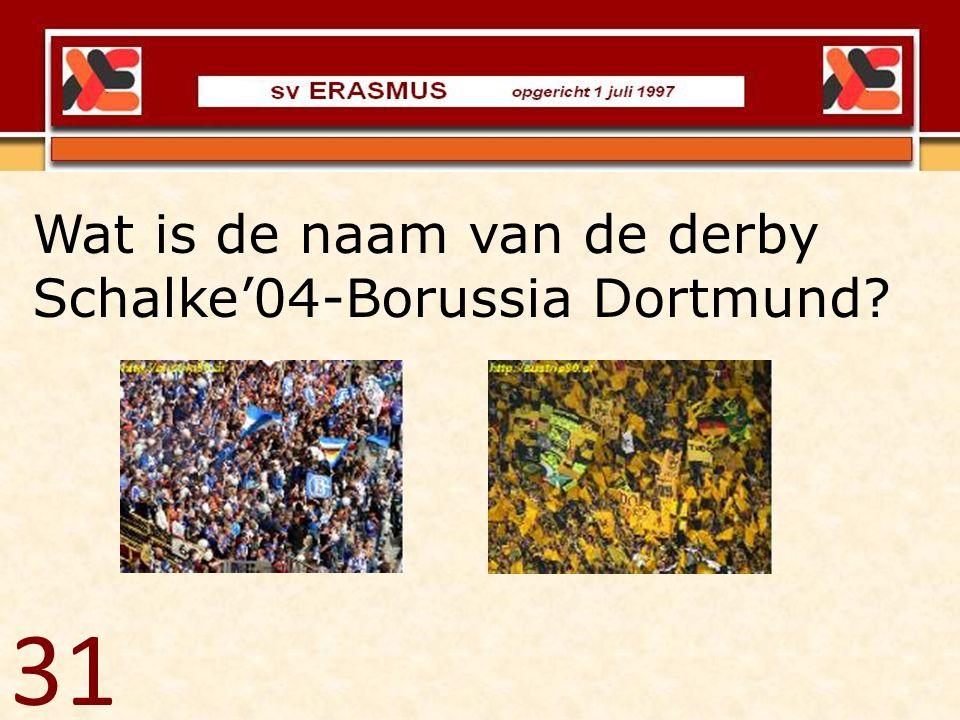 Wat is de naam van de derby