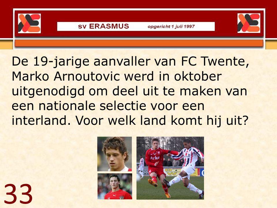 De 19-jarige aanvaller van FC Twente, Marko Arnoutovic werd in oktober uitgenodigd om deel uit te maken van een nationale selectie voor een interland. Voor welk land komt hij uit