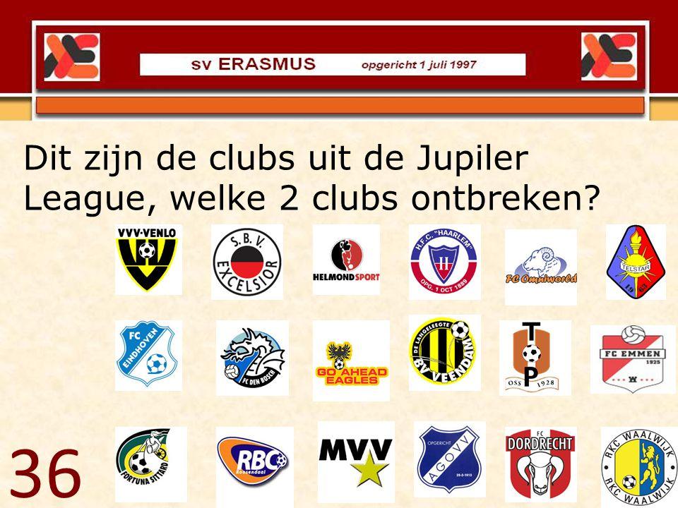 Dit zijn de clubs uit de Jupiler League, welke 2 clubs ontbreken
