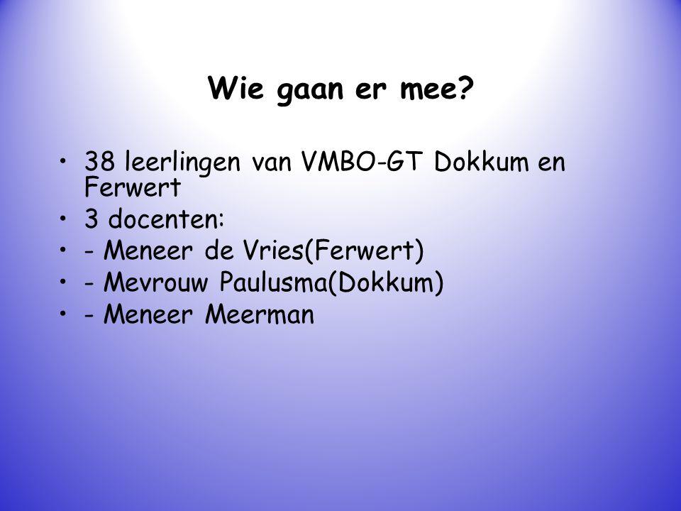 Wie gaan er mee 38 leerlingen van VMBO-GT Dokkum en Ferwert