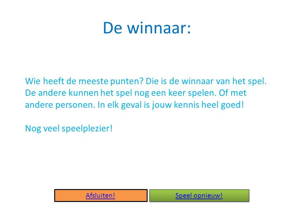 De winnaar: