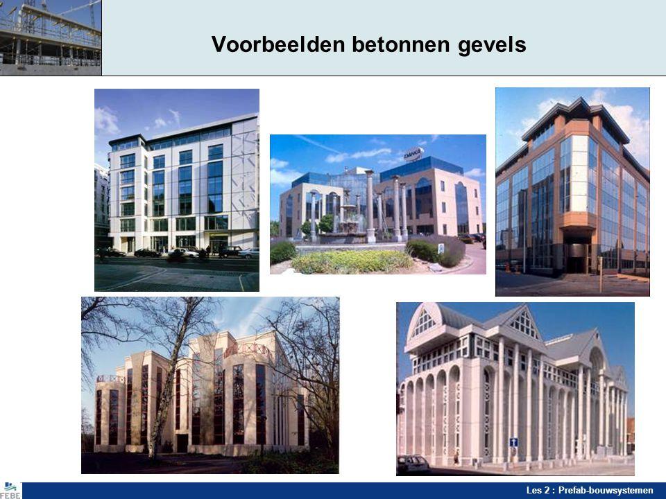 Voorbeelden betonnen gevels
