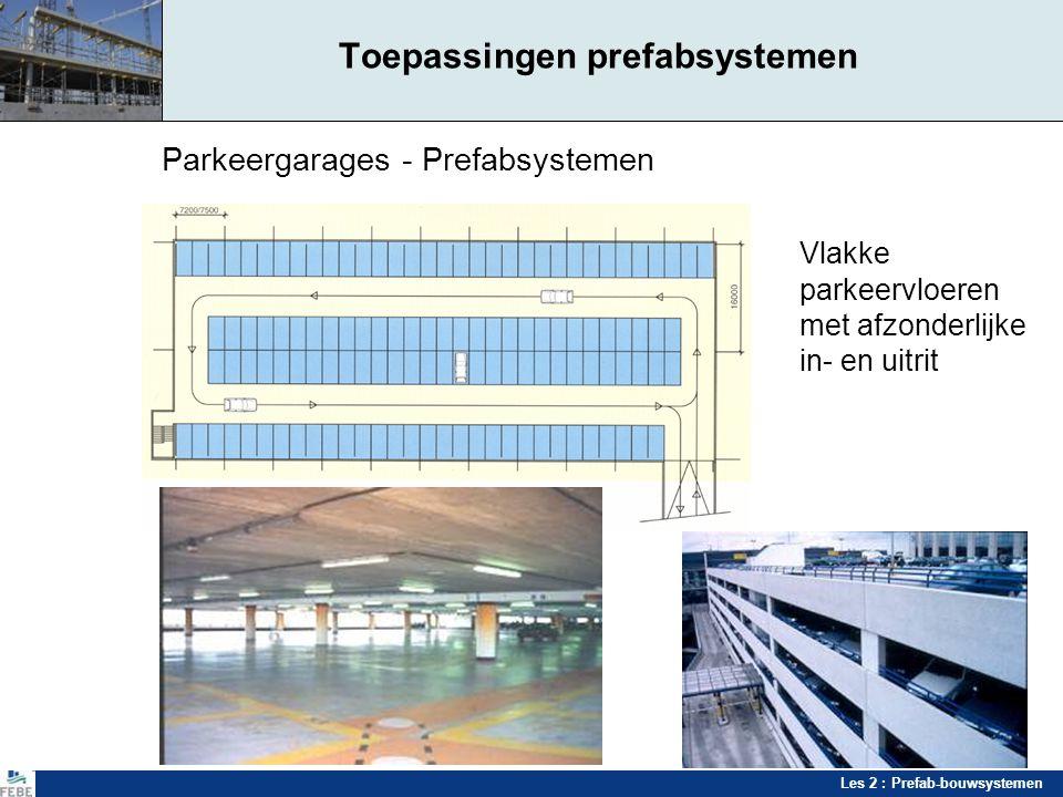 Toepassingen prefabsystemen