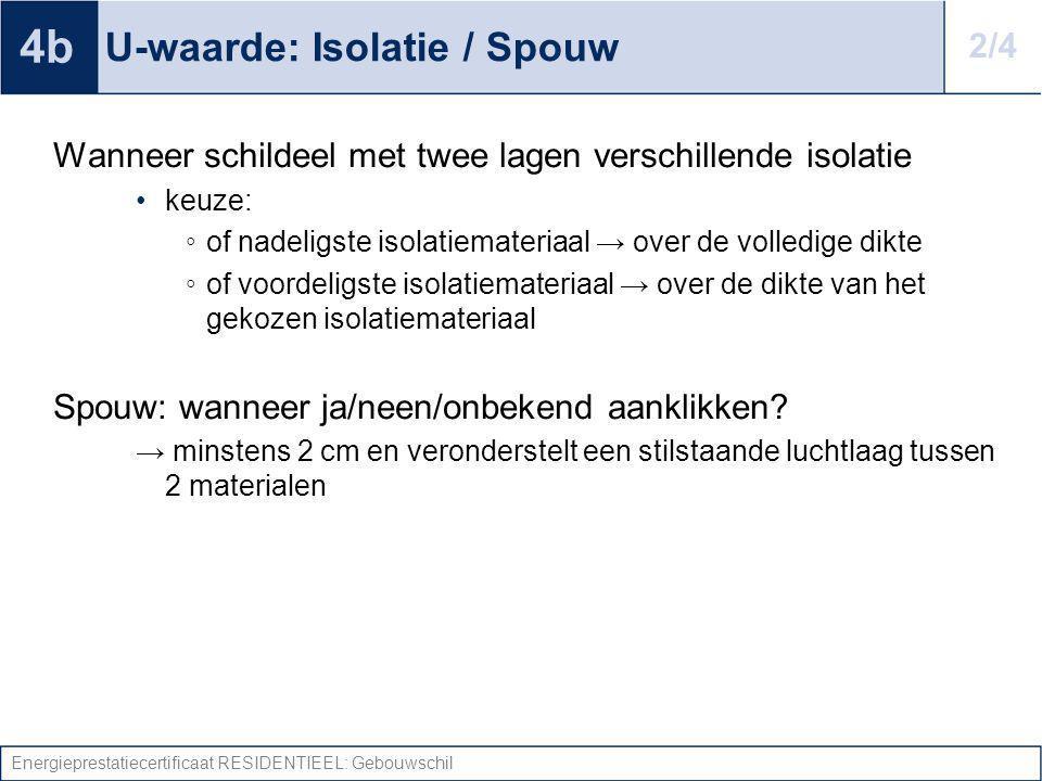 U-waarde: Isolatie / Spouw