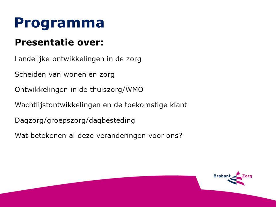 Programma Presentatie over: Landelijke ontwikkelingen in de zorg