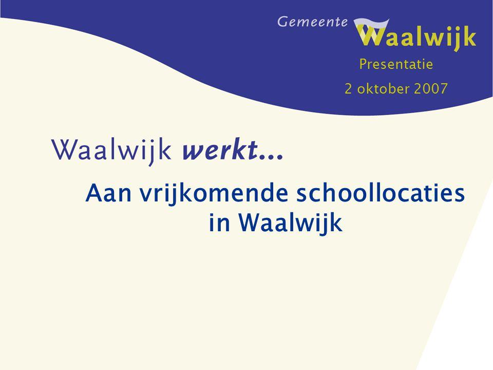 Aan vrijkomende schoollocaties in Waalwijk