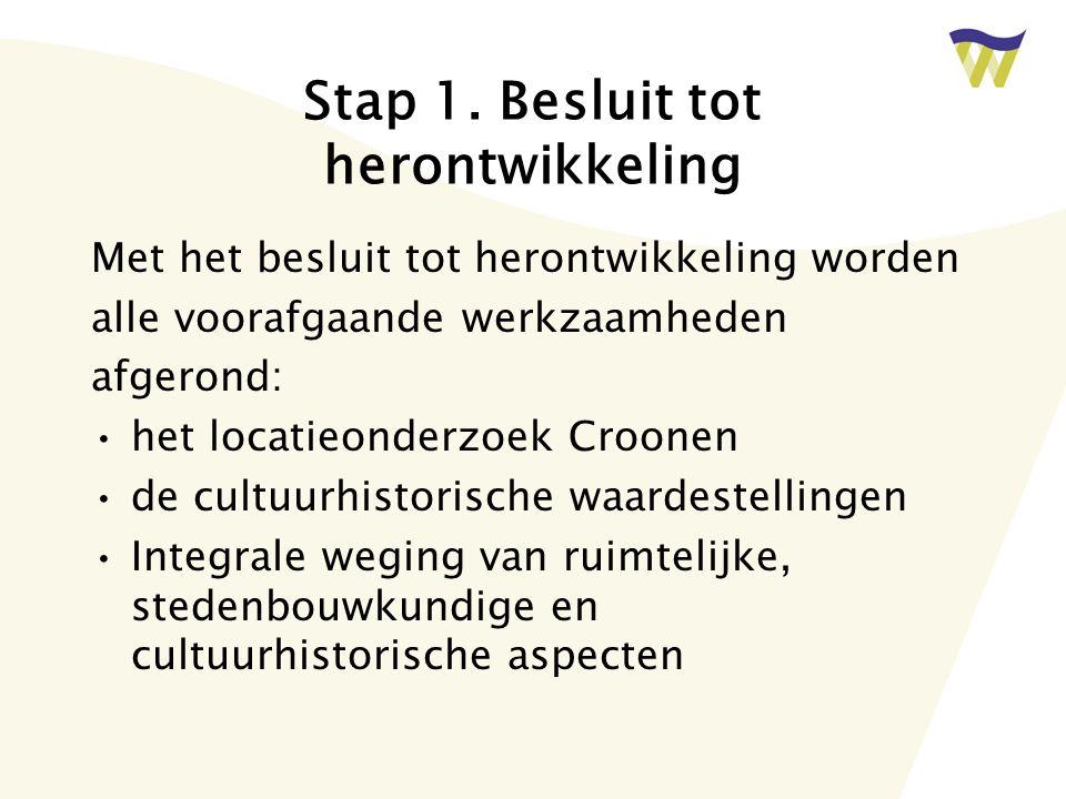 Stap 1. Besluit tot herontwikkeling