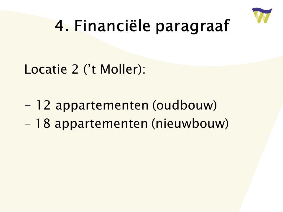 4. Financiële paragraaf Locatie 2 ('t Moller):