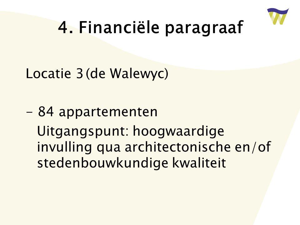 4. Financiële paragraaf Locatie 3 (de Walewyc) - 84 appartementen