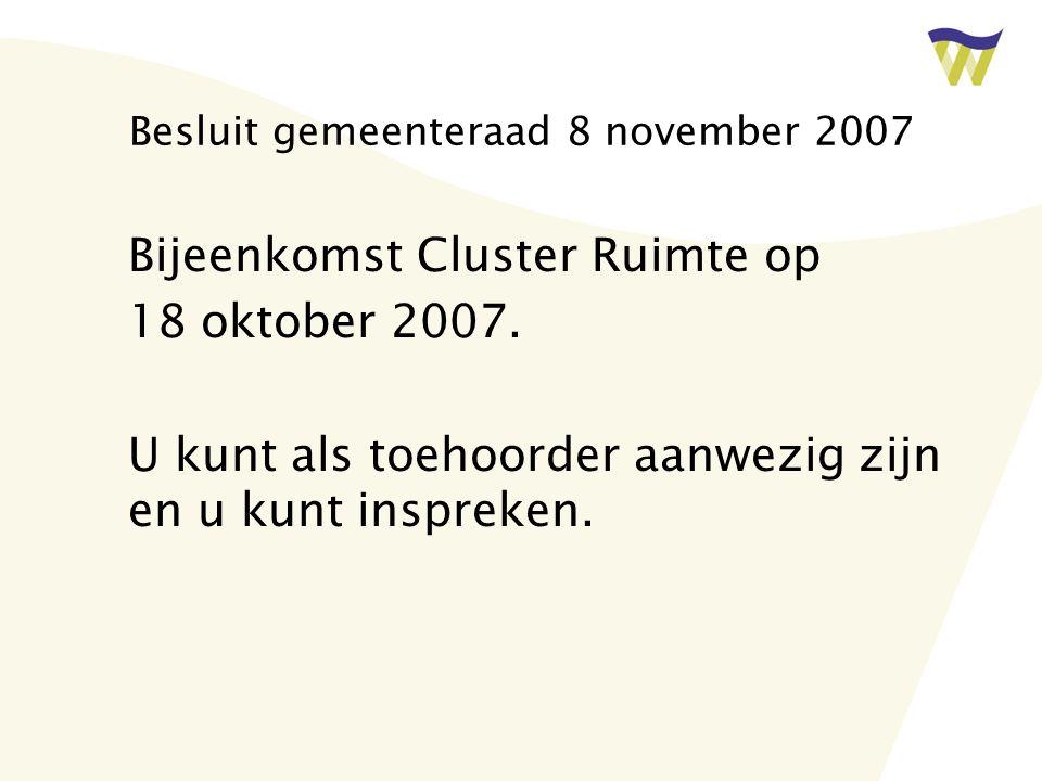 Besluit gemeenteraad 8 november 2007