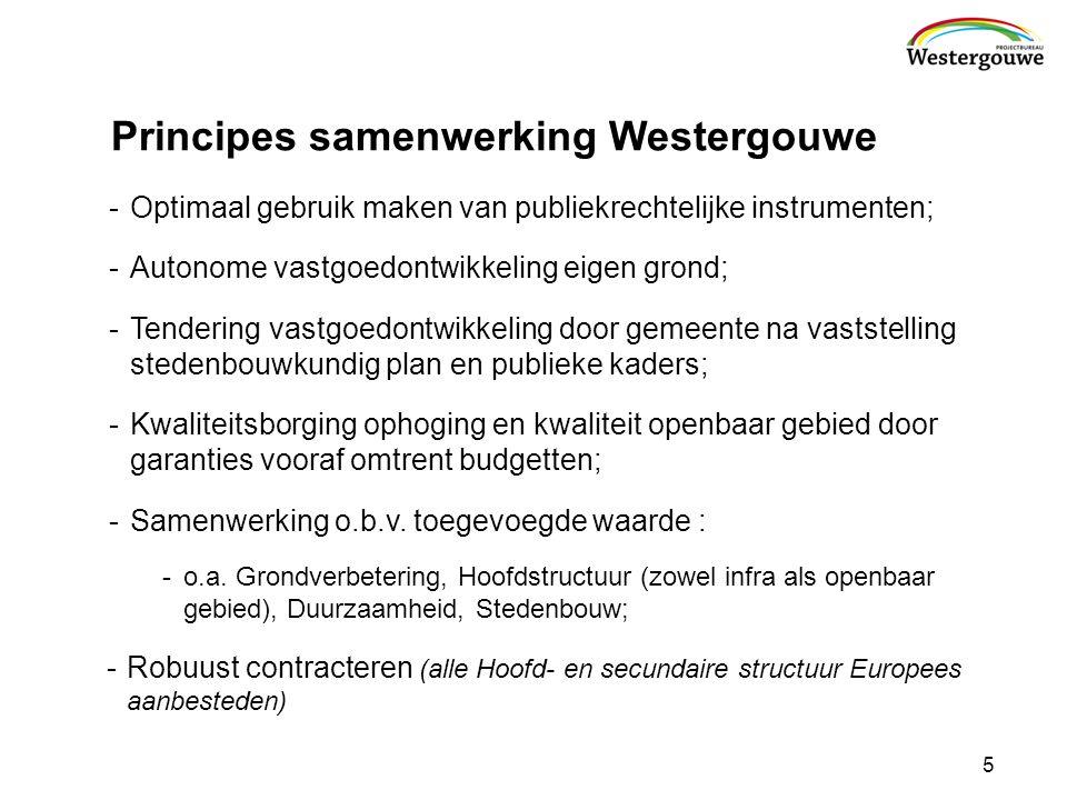 Principes samenwerking Westergouwe