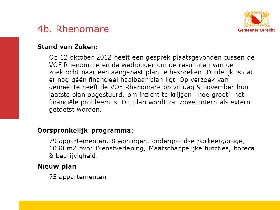 4b. Rhenomare Stand van Zaken: