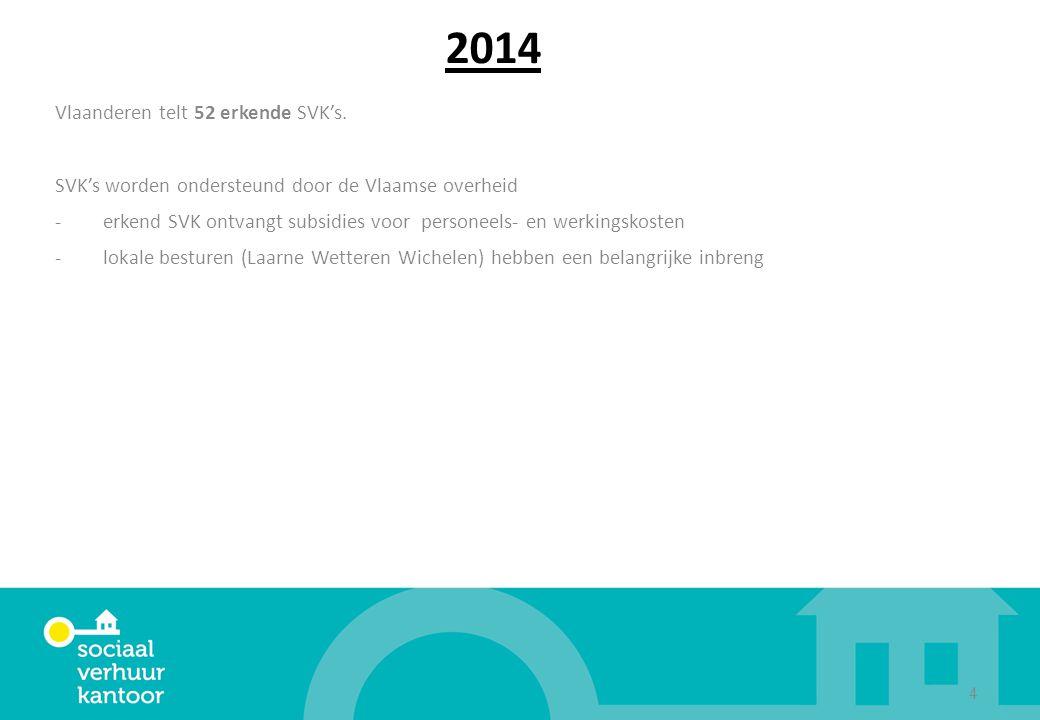 2014 Vlaanderen telt 52 erkende SVK's.