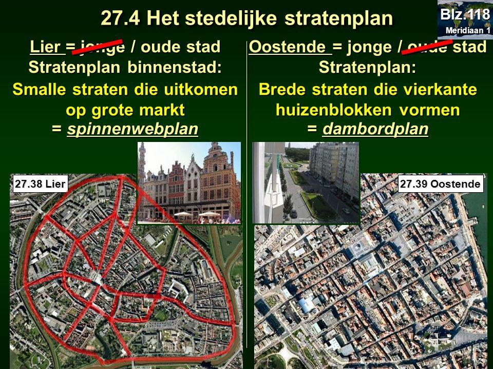 27.4 Het stedelijke stratenplan
