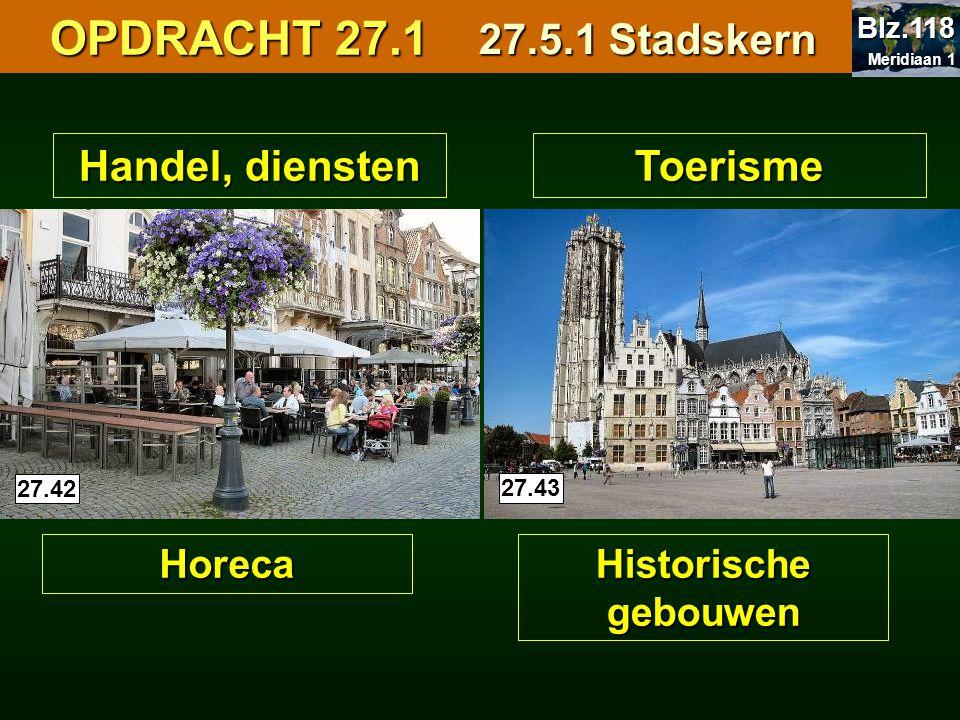 OPDRACHT 27.1 27.5.1 Stadskern Handel, diensten Toerisme Horeca