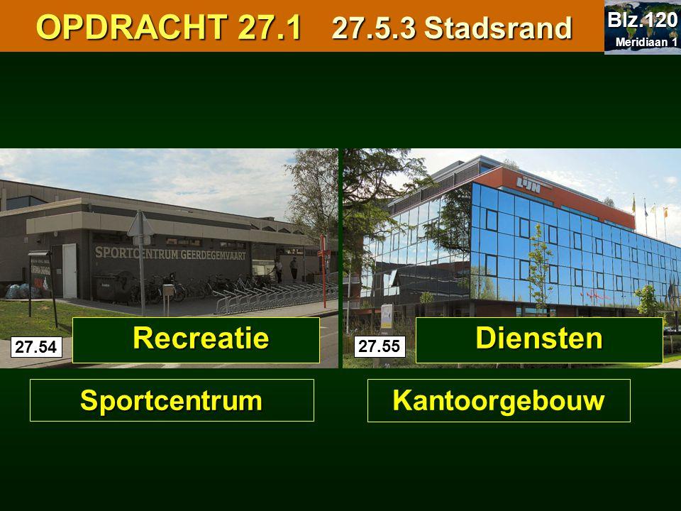 OPDRACHT 27.1 27.5.3 Stadsrand Recreatie Diensten Sportcentrum