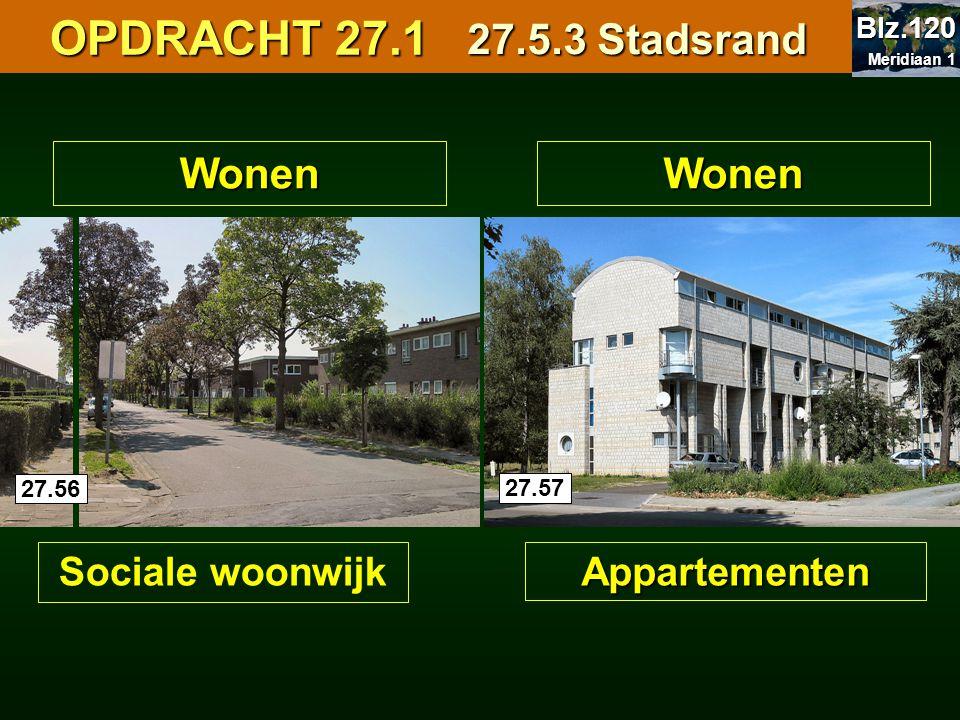 OPDRACHT 27.1 27.5.3 Stadsrand Wonen Wonen Sociale woonwijk