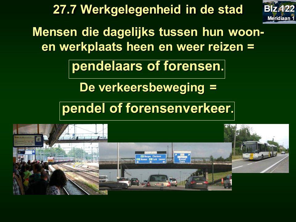 pendelaars of forensen. pendel of forensenverkeer.
