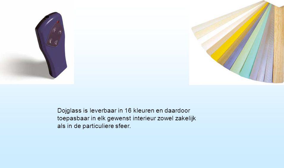 Dojglass is leverbaar in 16 kleuren en daardoor