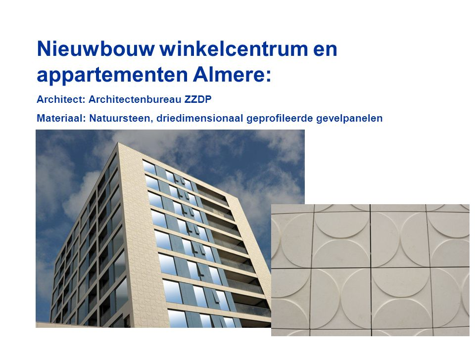 Nieuwbouw winkelcentrum en appartementen Almere: