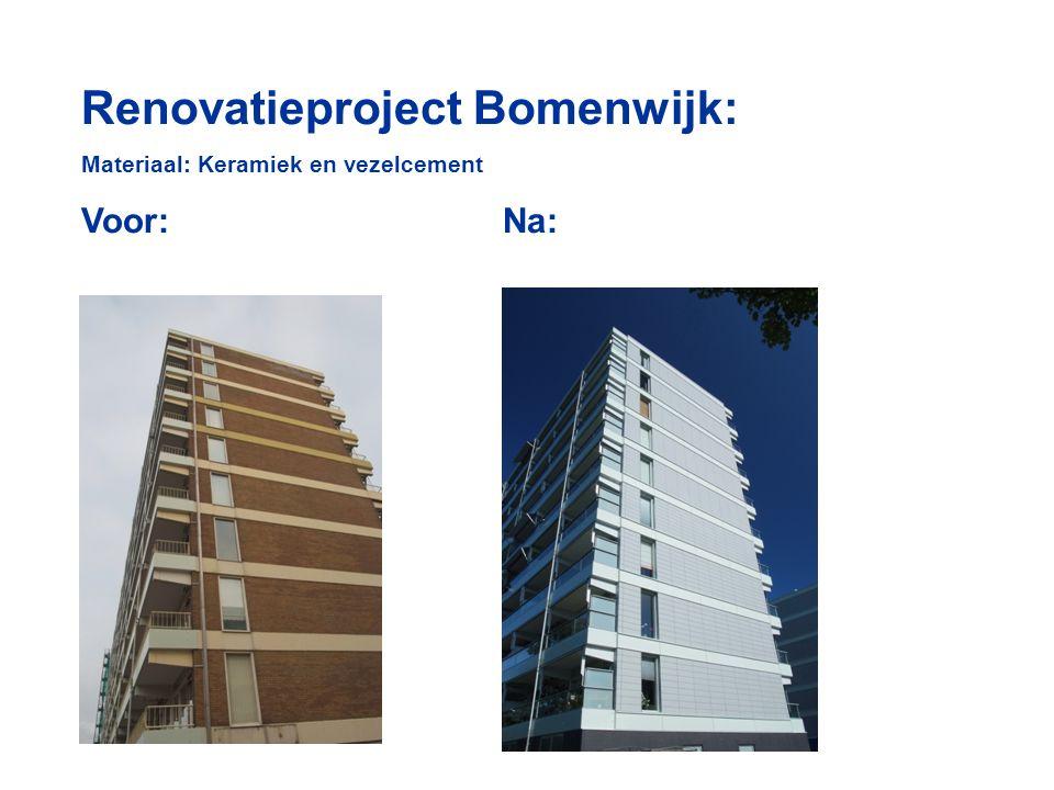 Renovatieproject Bomenwijk: