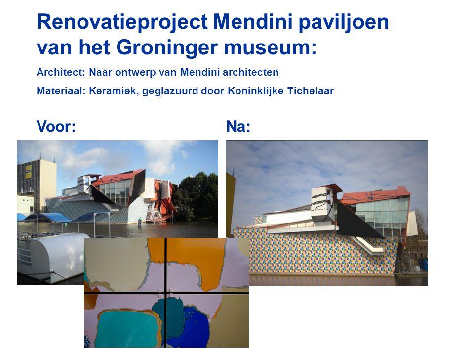 Renovatieproject Mendini paviljoen van het Groninger museum: