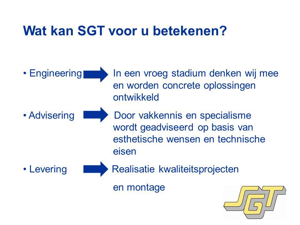 Wat kan SGT voor u betekenen